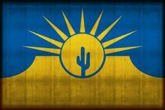 Mesa亚利桑那生锈的旗子例证 向量例证