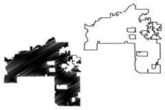 Mesa城市地图传染媒介 向量例证