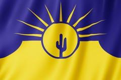 Mesa城市,亚利桑那美国旗子  向量例证