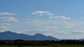 Mesa山美好的风景视图在亚利桑那 免版税库存照片