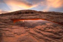 Mesa曲拱, Canyonlands国家公园,犹他 库存图片