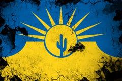 Mesa生锈的亚利桑那和难看的东西旗子例证 向量例证