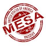 Mesa邮票有白色背景 皇族释放例证