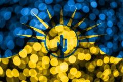 Mesa,亚利桑那抽象模糊的bokeh旗子 圣诞节、新年和国庆节概念旗子 美国状态团结了 皇族释放例证