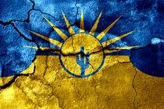 Mesa,亚利桑那生锈了破裂的旗子,生锈的背景 美国状态团结了 皇族释放例证