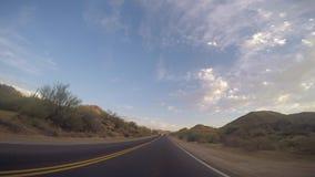 Mesa, AZ/USA - 6 - 25,在Az高速公路的2016年定期流逝驱动 股票视频