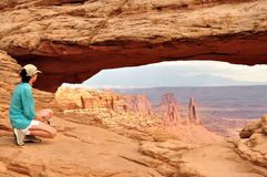 Mesa Arch Canyonlands National Park. Mesa Arch, Canyonlands National Park Royalty Free Stock Images