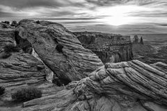 Mesa Arch in Canyonlands National Park near Moab, Utah Stock Image