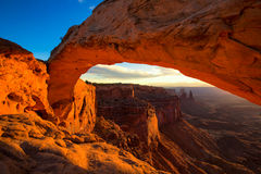 Mesa Arch in Canyonlands National Park near Moab, Utah, USA Royalty Free Stock Images