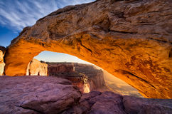Mesa Arch, Canyonlands National Park, Utah Stock Photos