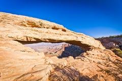 Mesa Arch del parco nazionale del Canyonlands dell'Utah Fotografie Stock Libere da Diritti