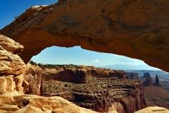 Mesa Arch, het Nationale park van Canyonlands, Utah, de V.S. stock fotografie