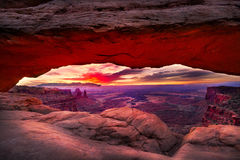 Mesa Arch Just Prior to Sunrise Stock Photo