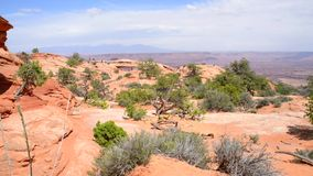 Mesa Arch. Meas Arch Island in the Sky in Canyonlands National Park Utah stock video