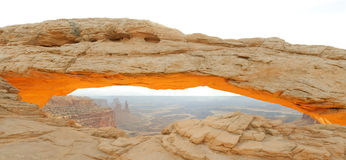 Mesa Arch in morning Stock Images