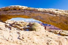Mesa Arch, Nationalpark Canyonlands, Utah, USA lizenzfreie stockbilder
