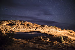 Mesa Arch at Night Royalty Free Stock Image