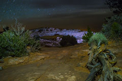 Mesa Arch at Night Royalty Free Stock Photo