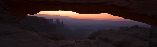 Mesa Arch Panorama Royalty Free Stock Images