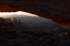 Mesa Arch at sunrise Stock Photos