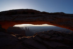 Mesa Arch at sunrise Stock Image