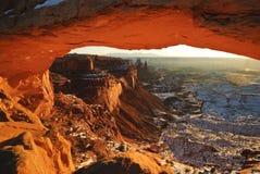 Mesa Arch at sunrise Royalty Free Stock Image