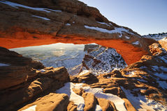 Mesa Arch at sunrise Stock Images