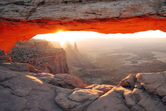 Mesa Arch Sunrise Stock Image