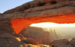 Mesa Arch Sunrise Stock Photography