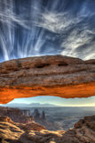 Mesa arch sunrise, Canyonlands national park Stock Photos