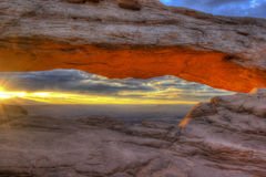 Mesa Arch at Sunrise Stock Photo