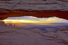 Mesa Arch at Sunrise Royalty Free Stock Photos