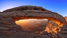 Mesa Arch Sunrise. Mesa Arch at Sunrise in Utah Royalty Free Stock Photography