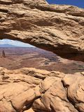Mesa Arch. View of Mesa Arch at Canyonlands National Park in Utah Stock Photography