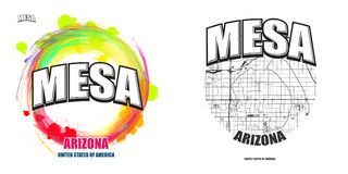 MESA, Arizona, deux illustrations de logo Illustration de Vecteur