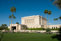 Mesa Arizona Temple. Temple of the Church of Jesus Christ of Latter-day Saints located in Mesa Arizona Royalty Free Stock Images