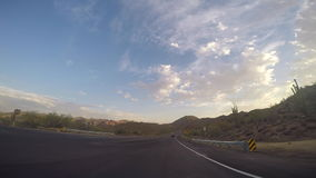 Mesa, AZ/USA - 6- 25, 2016 Time-lapse drive on Az Highway stock footage