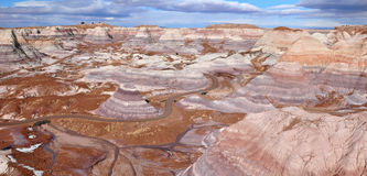Mesa azul en Forest National Park aterrorizado, Arizona los E.E.U.U. Foto de archivo