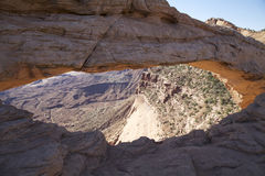 MESA-Bogen in Canyonlands N.P. Stockbilder