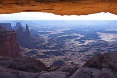 MESA-Bogen Canyonlands am Nationalpark Lizenzfreies Stockbild