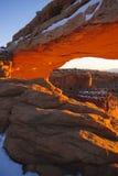 MESA-Bogen am Sonnenaufgang Lizenzfreies Stockbild
