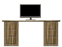 Mesa com monitor ilustração do vetor
