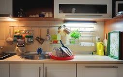 Mesa da cozinha fotografia de stock royalty free