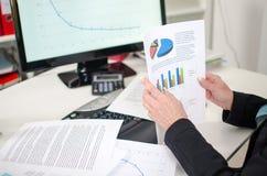 Mesa da mulher de negócios Imagem de Stock