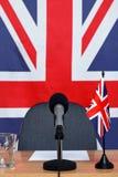 Mesa da notícia de Reino Unido Foto de Stock
