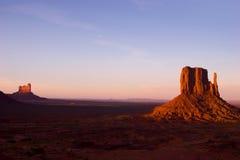 Mesa da sentinela Vale do monumento no parque tribal do Navajo Foto de Stock Royalty Free