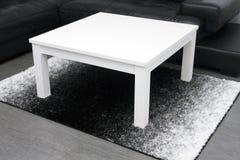Mesa de centro branca Imagem de Stock Royalty Free