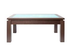 Mesa de centro na madeira Foto de Stock Royalty Free
