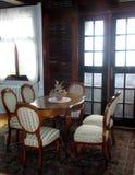 Mesa de comedor real Fotos de archivo libres de regalías