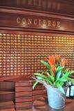 Mesa de Concierge Foto de Stock Royalty Free